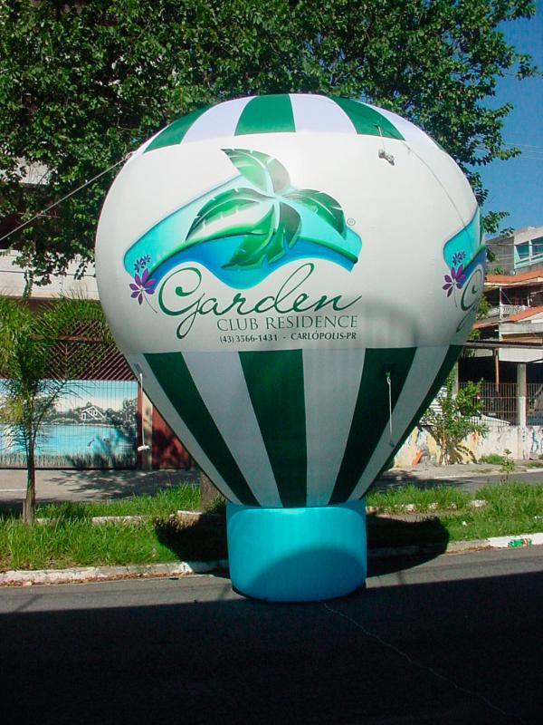 Balão inflável promocional rooftop