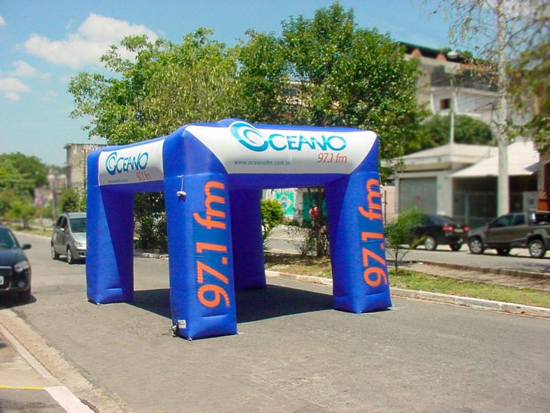 Barraca inflável promocional