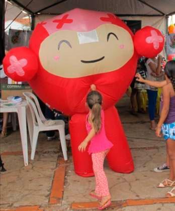 Fantasia inflável personalizada