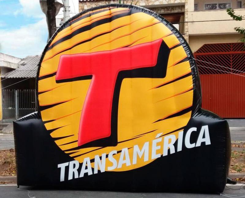 Logo inflável personalizado