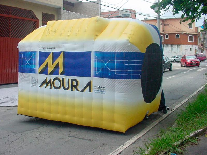 Réplica inflável promocional