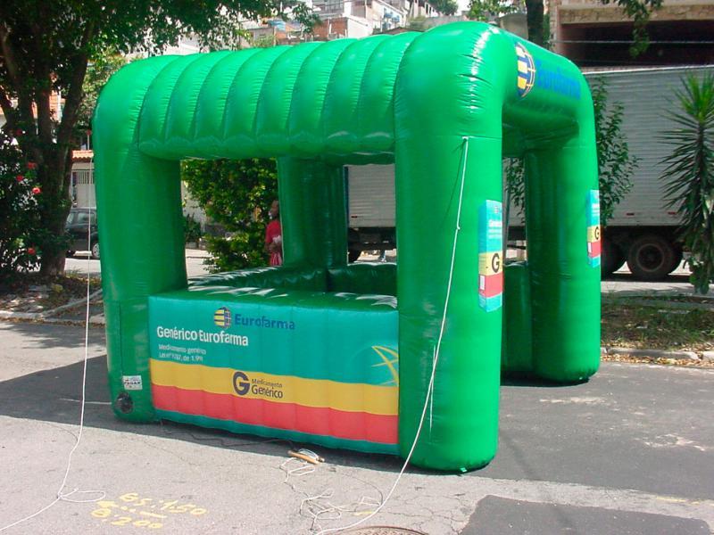 Tenda inflável personalizada