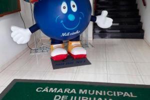 Boneco inflável publicidade