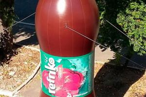 Garrafa inflável gigante